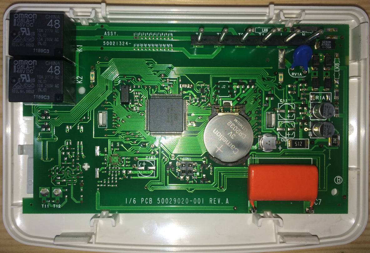 ST9400C Timer Internals Closeup after repair